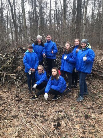 В «Ясной Поляне» волонтеры привели в порядок лес