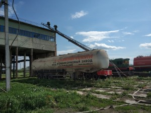 Учебный пожар на комбикормовом заводе тушил даже поезд