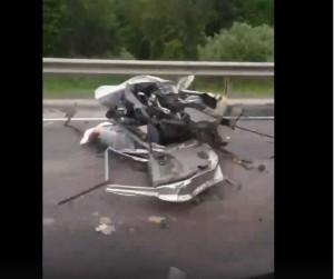 Страшная авария произошла на трассе Калуга-Тула