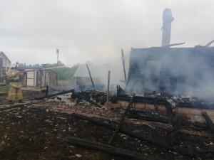 Жилой дом сгорел дотла под Малоярославцем