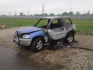 Легковушка сгорела в Детчино