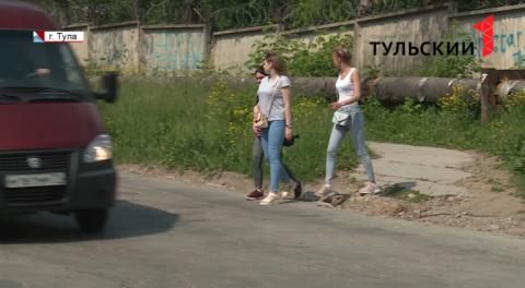 Опасная дорожная ситуация сложилась на улице Рязанской в Туле